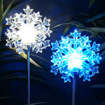 Solar LED Snowflake Stakes (Set of 2)