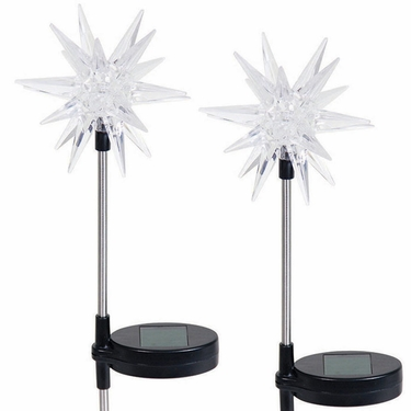 Solar LED Star Garden Stakes (Set of 2) - Click to enlarge