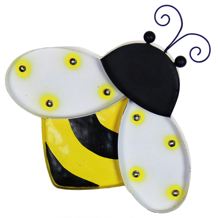 Solar Metal Marquee Bumblebee Wall Decor Only 3499 At Garden Fun