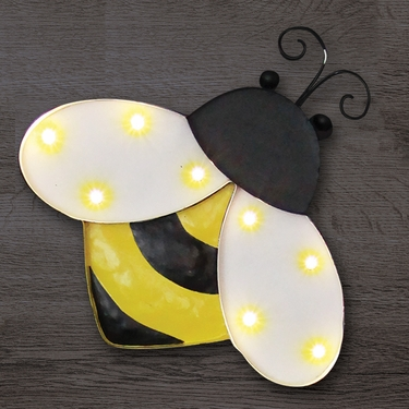 Solar Marquee Bumblebee Wall Decor - Click to enlarge