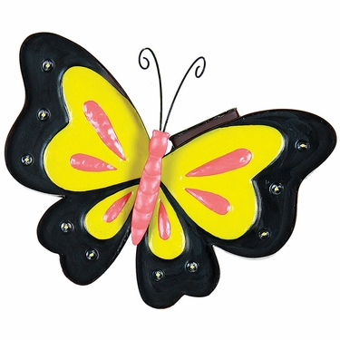 Solar Metal Marquee Butterfly Wall Decor only $34.99 at Garden Fun