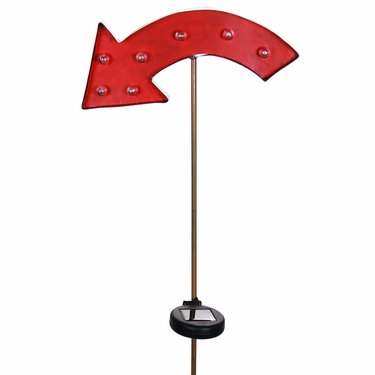 Solar Marquee Red Arrow Garden Stake - Click to enlarge
