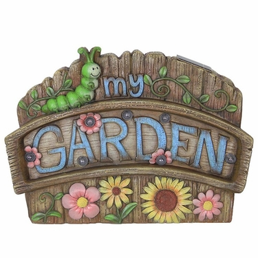 Solar My Garden Sign - Click to enlarge