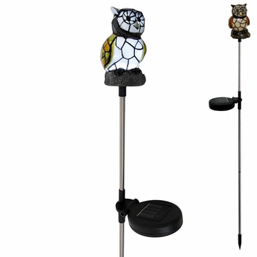 Solar Owl Light Garden Stake - Click to enlarge