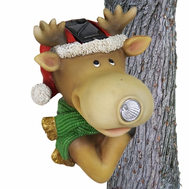 Solar Reindeer Tree Hugger - Click to enlarge