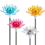 Solar Rotating Garden Flowers (Set of 4)