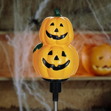 Solar Rotating Pumpkin Stake - Click to enlarge