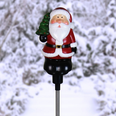 Solar Santa Plant Stake - Click to enlarge