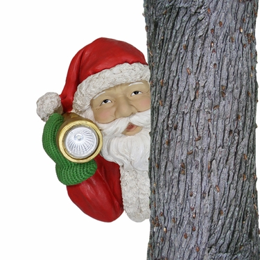 Solar Santa Tree Hugger - Click to enlarge