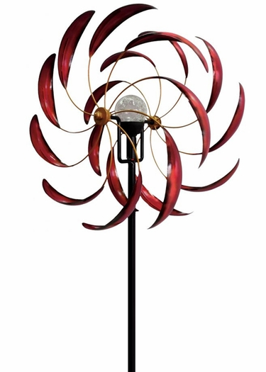 Solar Sedona Wind Spinner - Red - Click to enlarge