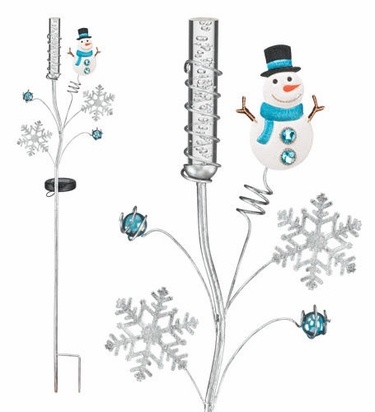 Solar Snowman Bubble Stake - Click to enlarge
