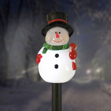 Solar Snowman Plant Stake - Click to enlarge