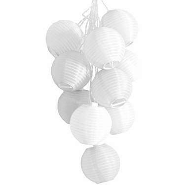 Solar String Lights - Mini White Lanterns - Click to enlarge