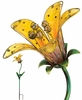 Solar Tiger Lily Stake - Yellow Glass