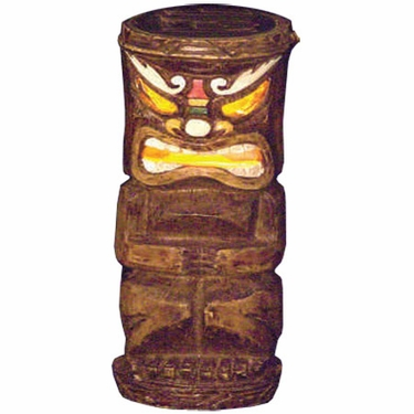 Solar Tiki Statue - Tribal Painted Makaha - Click to enlarge