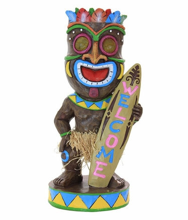 Solar Tiki Statue Welcome Only 49 99 At Garden Fun