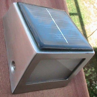 Solar Wedge Light / Stair Lights (Set of 4) - Click to enlarge