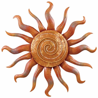 spiral sun wall decor only at garden fun. Black Bedroom Furniture Sets. Home Design Ideas