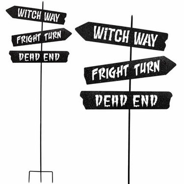Spooky Crossroads Stake - Click to enlarge