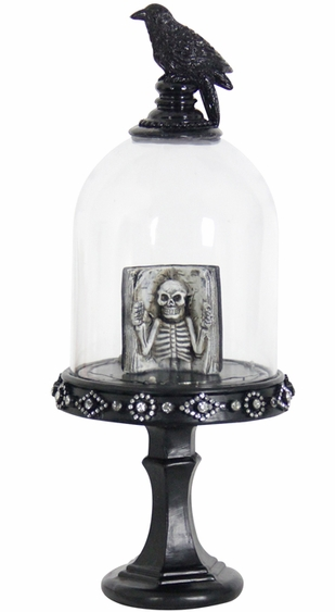 Spooky Dome w/Skull Book & LEDs - Click to enlarge