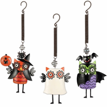 Spooky Halloween Owl Bouncies (Set of 3) - Click to enlarge