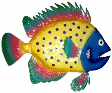 Spotted Blue Fish Wall Decor - Click to enlarge