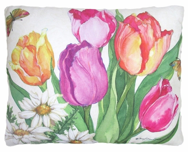 Spring Bouquet Outdoor Pillow - Click to enlarge
