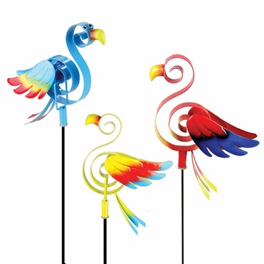 Springee Parrot Garden Stakes (Set of 3) - Click to enlarge