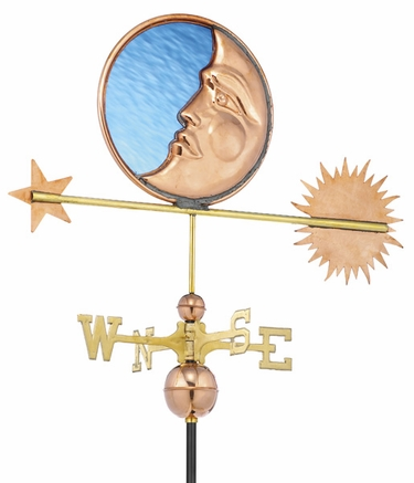 Stained Glass Moon Weathervane - Click to enlarge