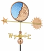 Stained Glass Moon Weathervane