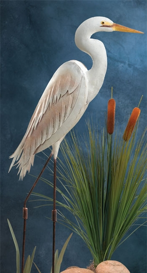 Standing Art Egret Bird - Click to enlarge