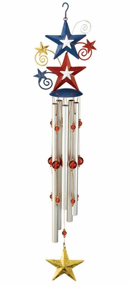 Star Spangled Wind Chime - Click to enlarge