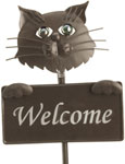 Stray Cat Welcome Sign