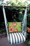 Striped Chocolate Hibiscus Hammock Chair Swing Set