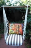 Striped Chocolate Impressions Bird Hammock Chair Swing Set