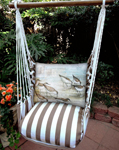 Striped Chocolate Sandpipers Garden Hammock Chair Swing Set