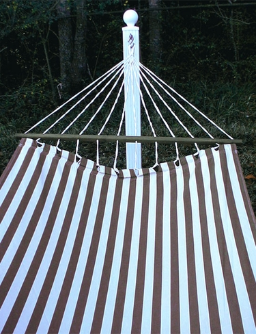 Striped Chocolate Sundure Fabric Hammock - Click to enlarge