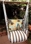 Striped Chocolate Sunflowers w/2 Butterflies Hammock Chair Swing Set