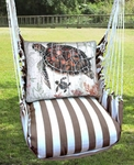Striped Chocolate Turtle Baby Hammock Chair Swing Set