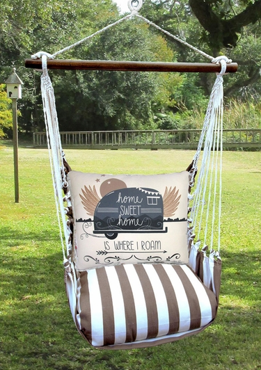 Striped Chocolate Where I Roam Hammock Chair Swing Set - Click to enlarge