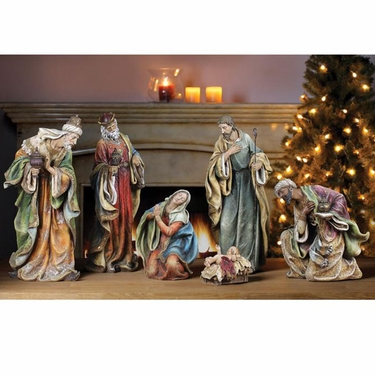 Stunning Nativity Scene (Set of 6) - Click to enlarge