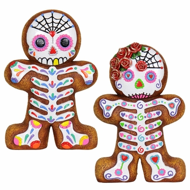 Sugar Skull Gingerbreads (Set of 2) - Click to enlarge