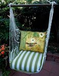 Summer Palms Bird on Vine Hammock Chair Swing Set
