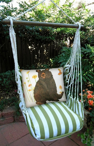 Summer Palms Brown Bear Hammock Chair Swing Set - Click to enlarge