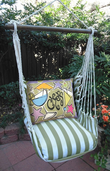 Summer Palms Cheers Hammock Chair Swing Set - Click to enlarge
