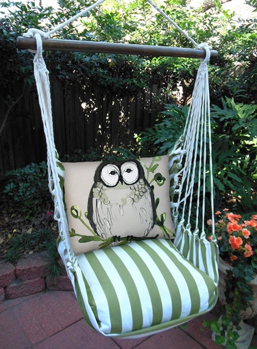 Summer Palms Chubby Owl Hammock Chair Swing Set - Click to enlarge
