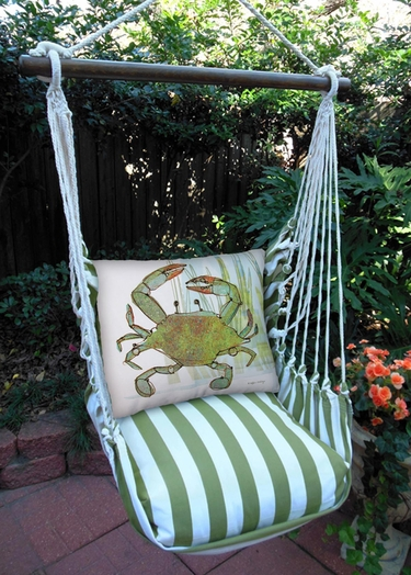 Summer Palms Crab in Marsh Hammock Chair Swing Set - Click to enlarge