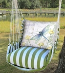 Summer Palms Dragonfly Poppies Hammock Chair Swing Set