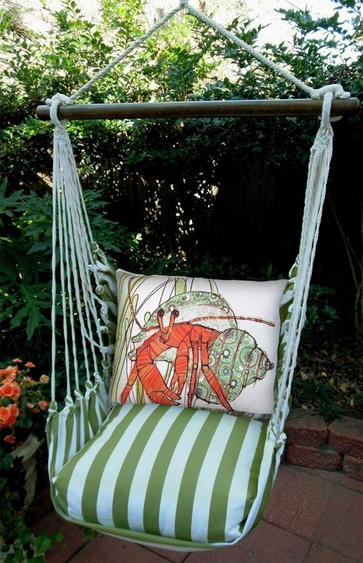 Summer Palms Hermit Crab Hammock Chair Swing Set - Click to enlarge