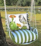Summer Palms Owl on Cactus Hammock Chair Swing Set